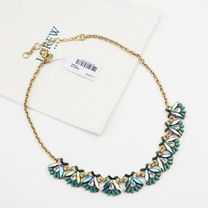 J.CREW Crystal Firefly Necklace Blue